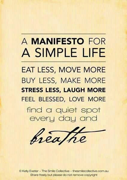manifesto for a simple life quote
